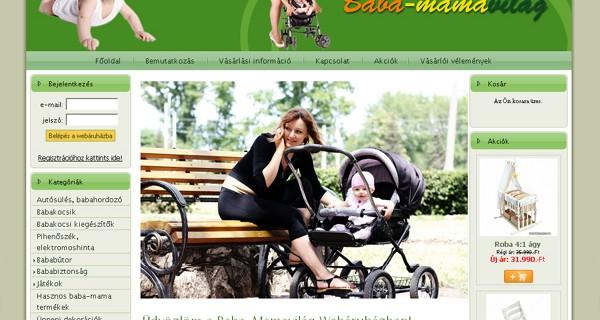 Baba-mamavilág Webáruház