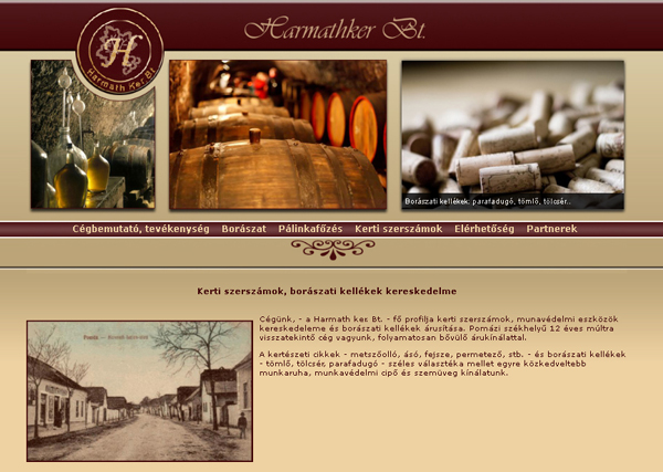Harmathker Bt honlapja