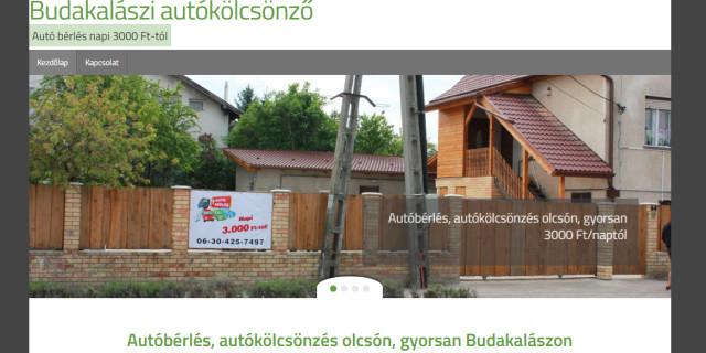 Budakalászi autókölcsönző honlapja