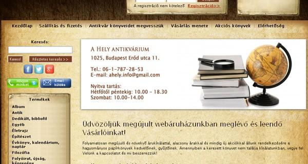 Ahely Webáruház
