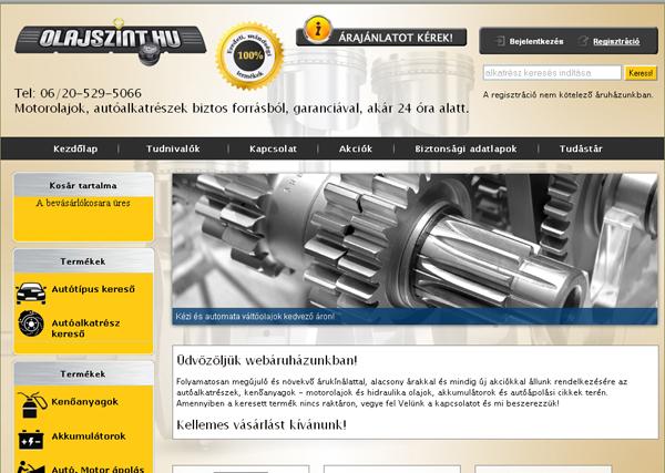 Olajszint Webáruház
